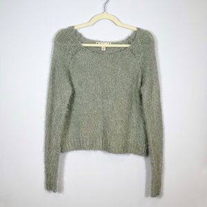 Decree Grey Soft Fuzzy Cropped Seater size L